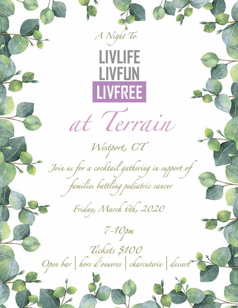 LIVLIFE LIVFUN LIVFREE at Terrain in Westport